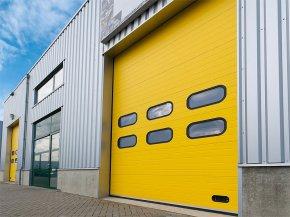Разновидности и конструкции промышленных секционных ворот